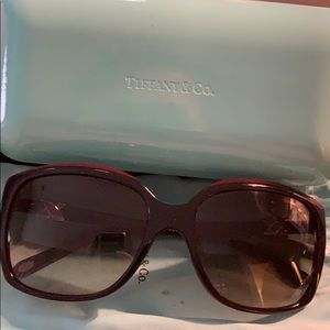 Tiffany & Co. black/red sunglasses